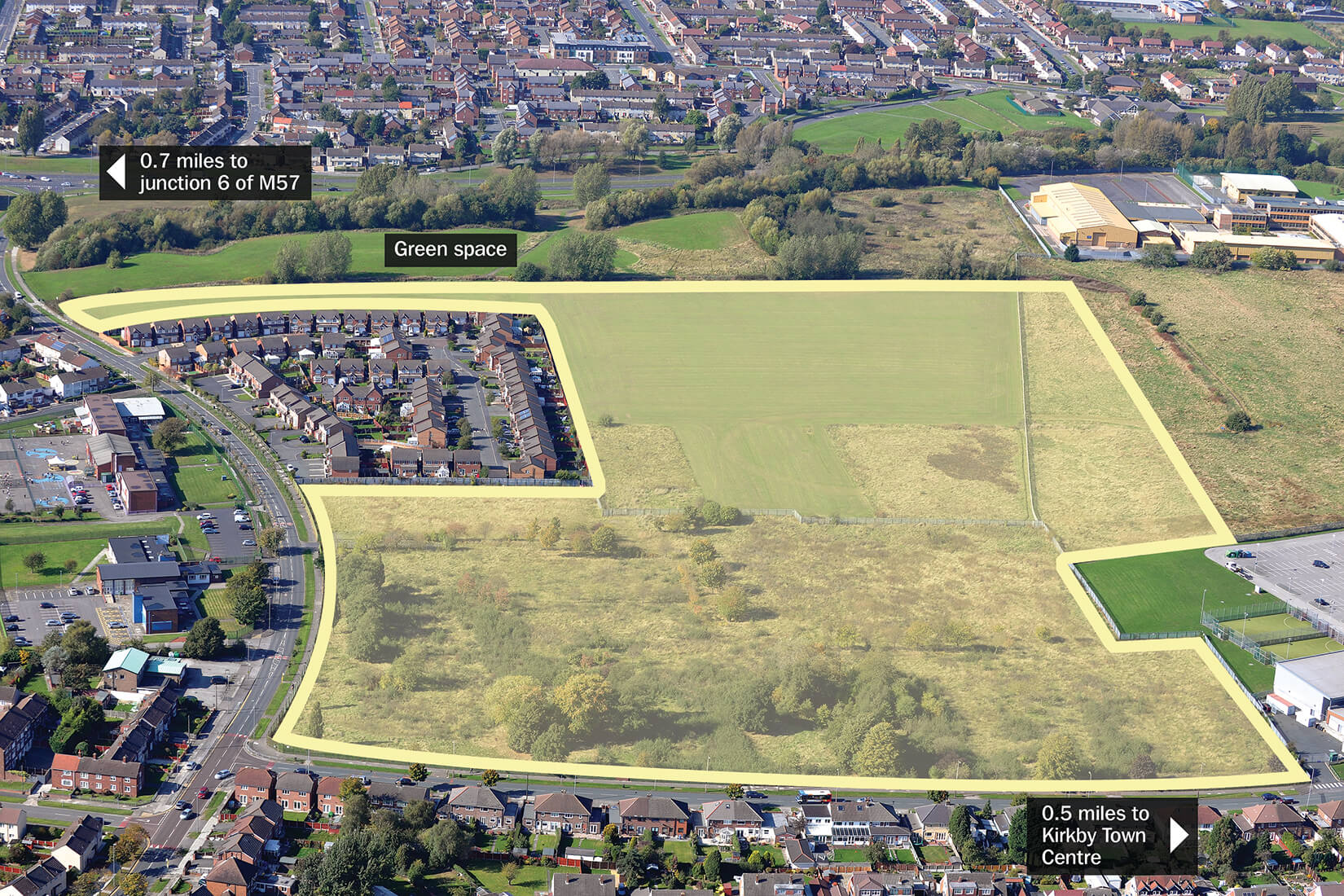 Cherryfield Drive site in Kirkby