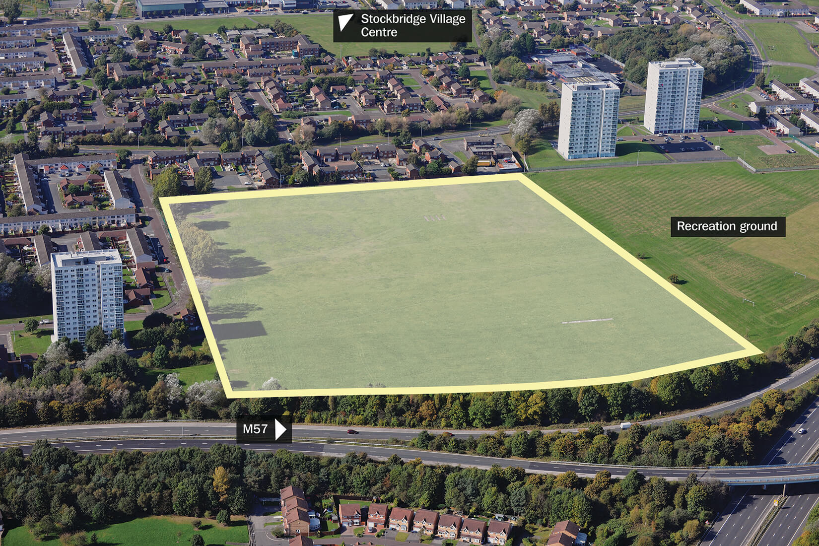 Bewley Drive site in Kirkby