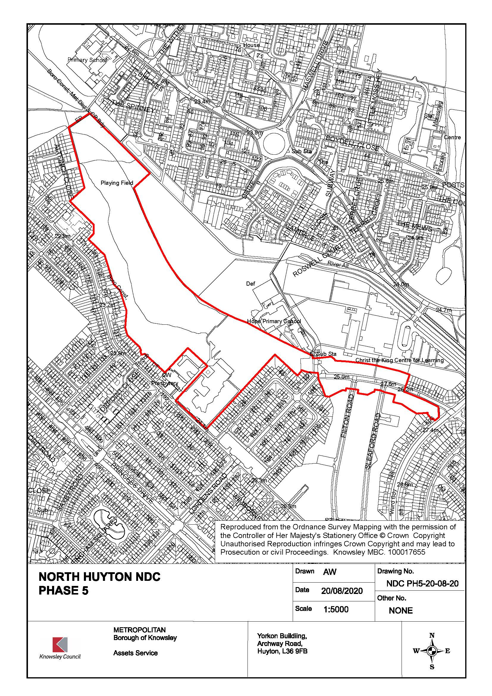 Map of North Huyton development